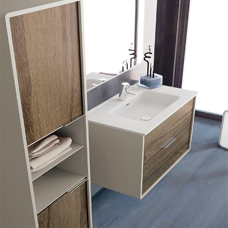 Mueble de baño Vintass suspendido 60-70-80-90-100-120 cm ...