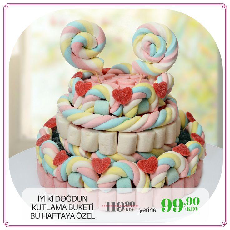 Duble Mutluluk Yaratan Doğum Günü Hediyeleri 🎁🎈 >> www.sekersef.com #sekersef #şekerşef #marşmelov #jelibon #hediye #buket #kişiyeözel #mesajlı #bonbon #şekerçiçek #şekerbuket