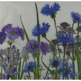 Jardim de Flores Azuis e Lilases (567)