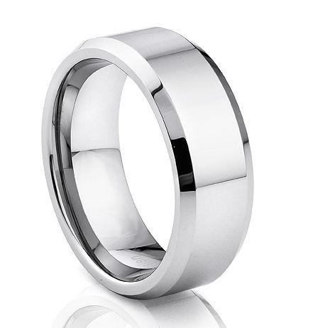 TUR 905 - 8mm Men's Tungsten Carbide Wedding Ring