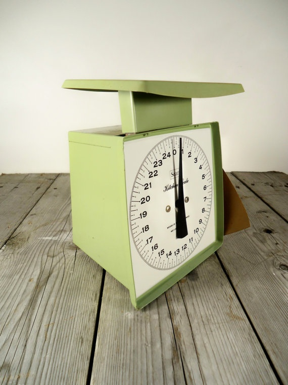 Vintage Green Kitchen Scale from the Hepburn House $24.