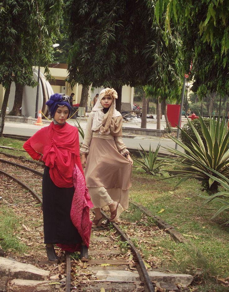 #hijab #fashion #indonesia #red # brown
