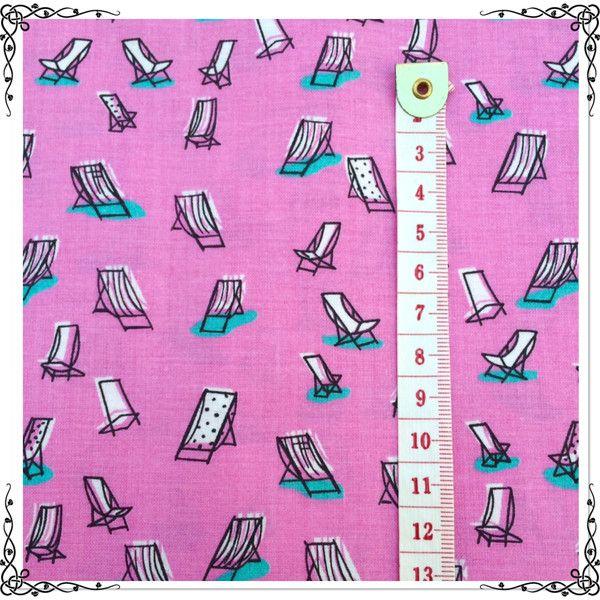 Weiteres - pink, rosa Sommer - Stoff mit Liegestühlen - ein Designerstück von Vijoni bei DaWanda