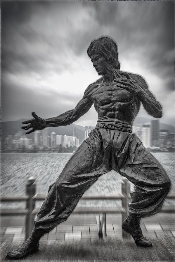 Statue of Bruce Lee, Tsim Sha Tsui, Kowloon, Hong Kong- fucking want one in my house. I will not rest till i have it!!!!