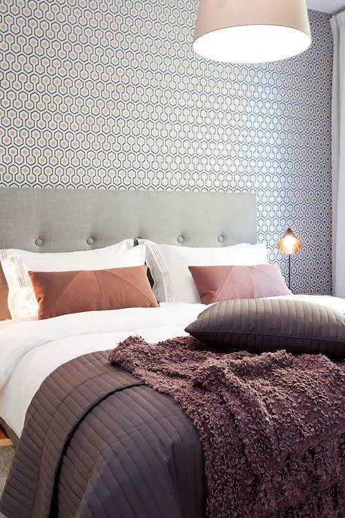 Wallpaper Hexagon. Available at www.artdecowebstore.com - Behang Hexagon. Verkrijgbaar bij www.artdecowebwinkel.com