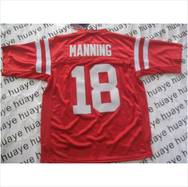 innovative design 6c79f b75d5 ncaa jerseys ole miss rebels 18 achie manning red college ...