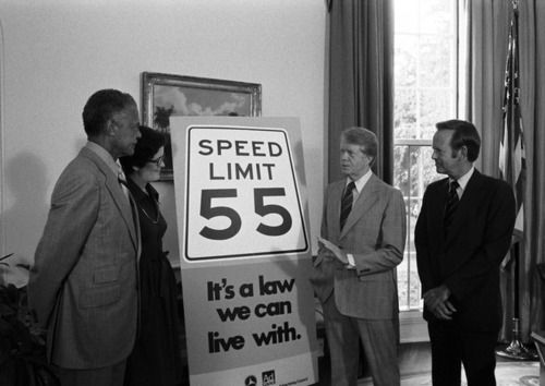 mandated 55 mph speed limit As a result of this act, the national maximum speed limit (nmsl) was limited to 55 mph on interstates according to monsere et al (2), in the years.