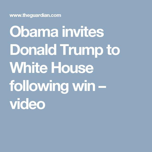 Obama invites Donald Trump to White House following win – video