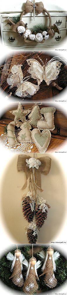 LOVE the burlap butterflies