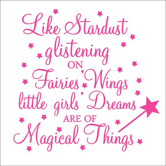 Nat Room - Stardust Vinyl Decal Fairy Quote Wall Decal by CustomVinylbyBridge, $25.00