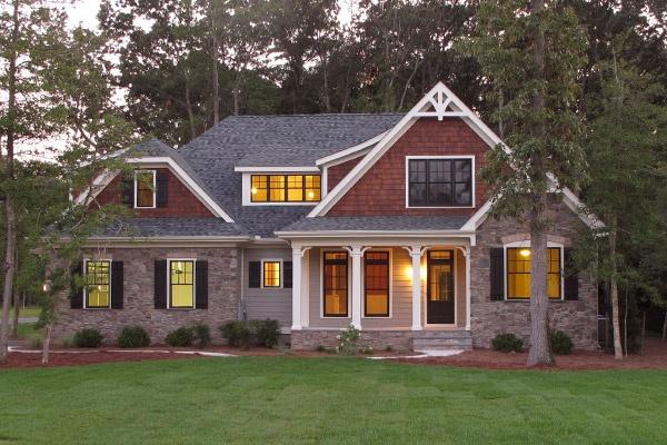Stone and cedar shake home exteriors pinterest for Cedar shake house plans