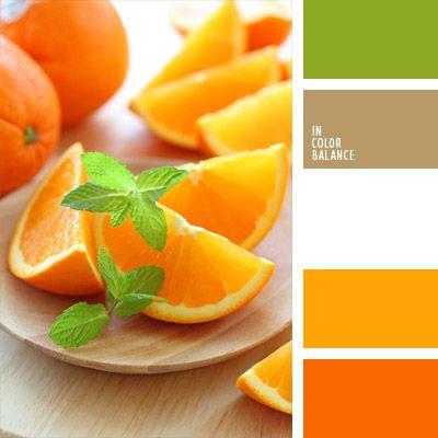 anaranjado y verde, color hoja de menta, color naranja, color negro madera, color verde menta, combinación de colores para decorar interiores, elección del color, marrón, selección de colores para el diseño de interiores, tonos anaranjados, verde lechuga y anaranjado.