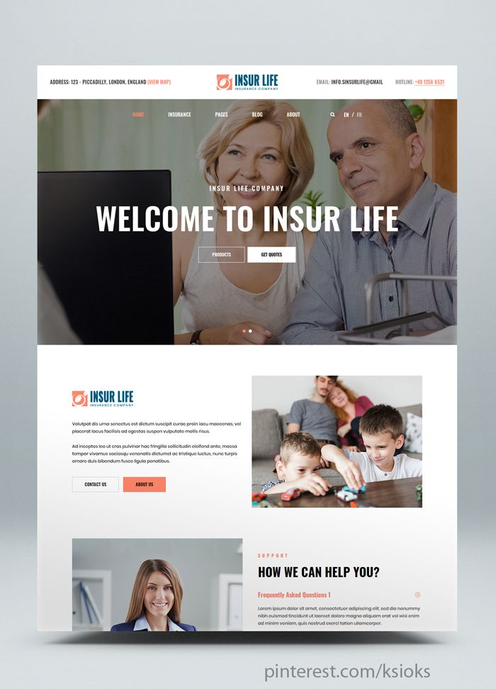 Insurance Company Html5 Website Template It Is A Perfect Solution For The Company Or Individua With Images Business Website Templates Consulting Business Website Template