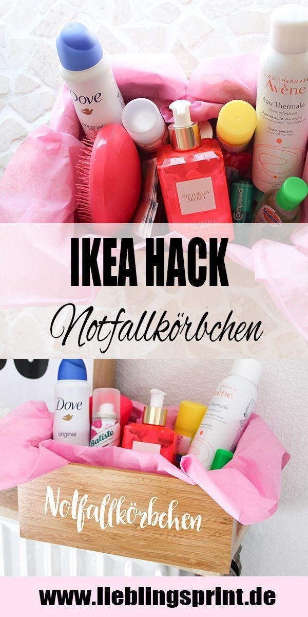 Notfallkörbchen für eure Hochzeit selber machen mit meinem kleinen Ikea Hack u…