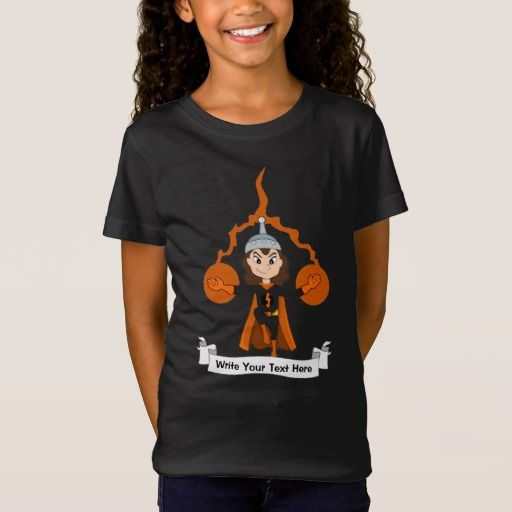 Custom flying superhero girl cartoon T-Shirt