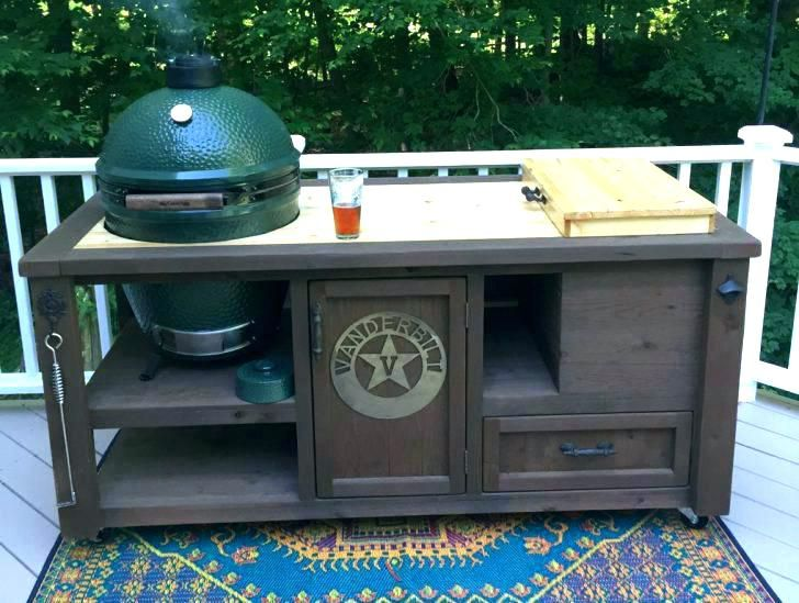 Outside Grill Table Outdoor Prep Table Island Kitchen Accessories Plans With Storage Cooking Area Outside Prefab Kits Un Grill Table Wooden Cooler Custom Grill