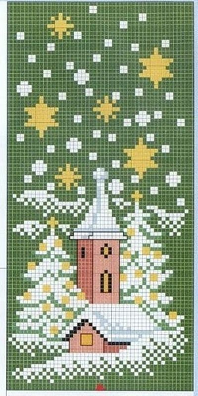 cross stitch- I think this would be even better on a dark navy or black cloth