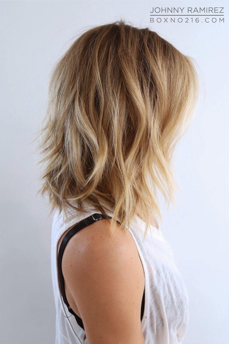 best 25+ layered lob ideas on pinterest | layered short hair