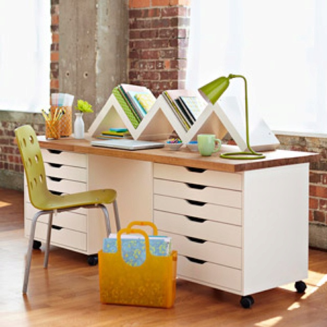 how to make a desk using file cabinets