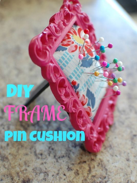 DIY Pin Cushion!! Super easy, only $2 and all available at the dollar store