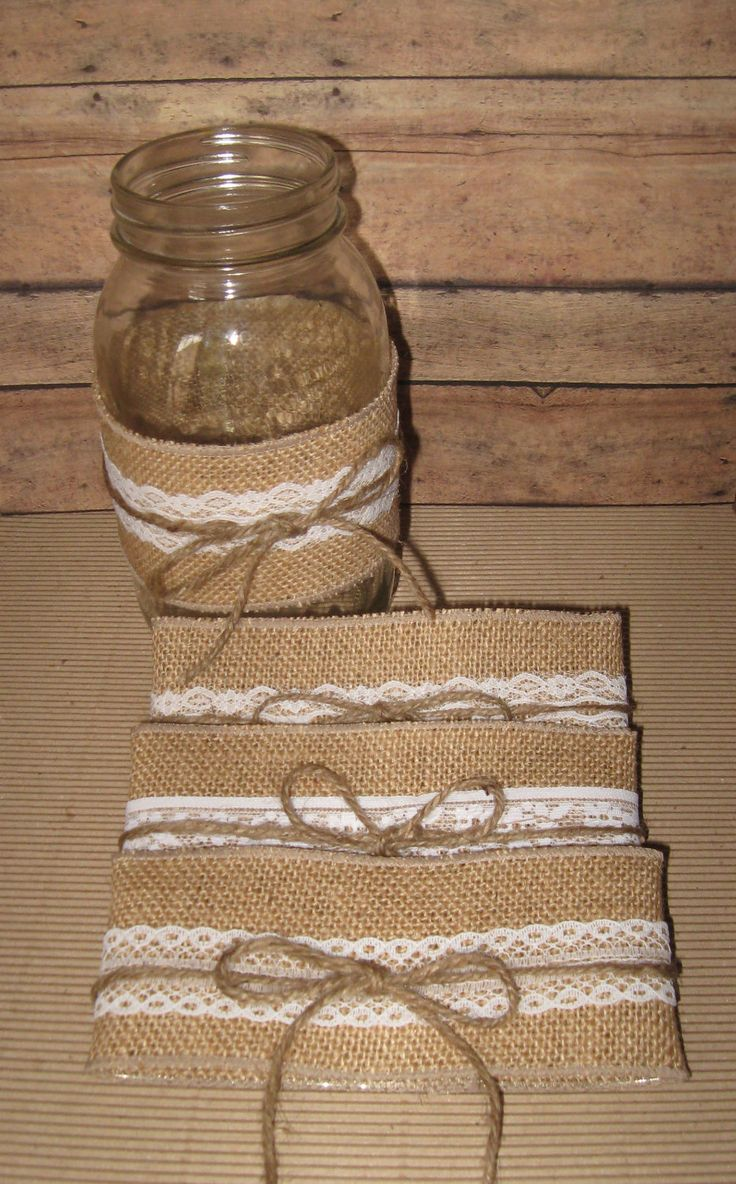 rustic wedding decorations | ... DIY Mason Jar Sleeves Summer Wedding, Rustic Wedding , Cottage Decor