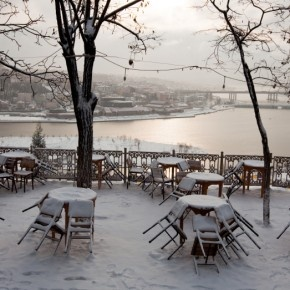 Pierre Loti hill in the winter