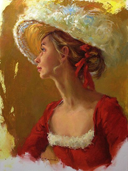 Genteel Lady by Catherine Marchand Oil ~ 24 x 18