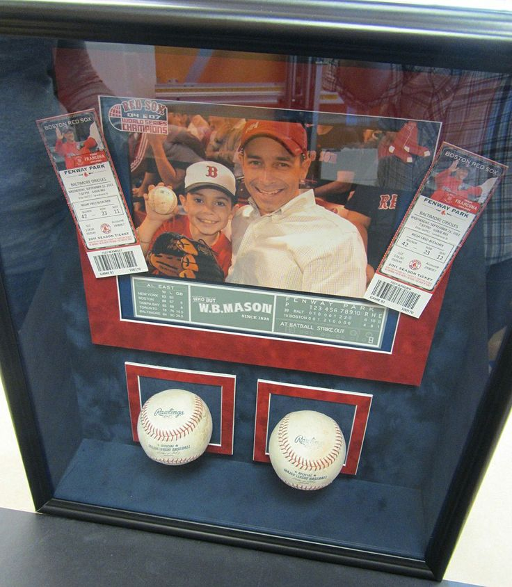 shadow boxes | baseball shadow box