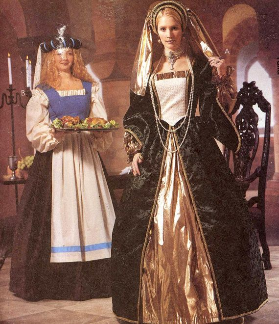 Renaissance Wedding Dress Costume History Mccall S By Heychica: 17 Best Ideas About Medieval Dress Pattern On Pinterest