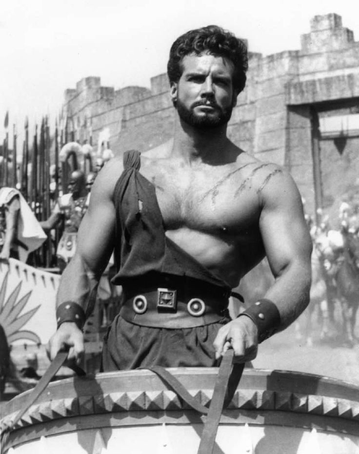 """Hercules! Hercules! Montana-born bodybuilder Steve Reeves flexed his way into movie stardom in the Italian-import """"Hercules,"""" which opened in the U.S. on this date in 1958. Who is your favorite actor who played Hercules? Photo from the L.A. Times files."""