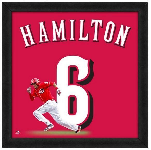 "Billy Hamilton Cincinnati Reds - Officially Licensed 20"" x 20"" Uniframe"