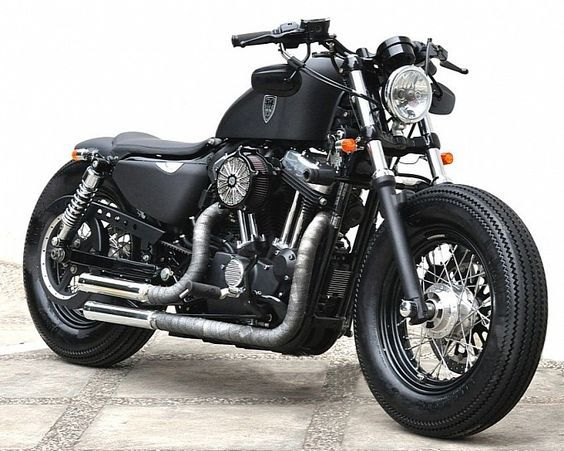 Studio Motor Harley-Davidson Sportster Forty-Eight. I have no idea what that means, but this is still cool.: Harley Sportster, Bobbers Motorcycles, Cars Motorcycles, Motorbikes Motorcycles, Harley Davidson Motorcycles, Davidson Sportster, Bikes Motorbikes