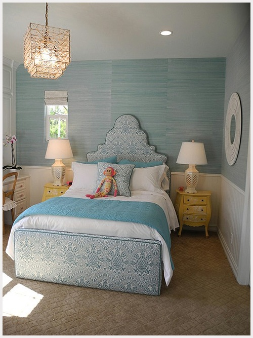 Cora would love to have a blue room! I think this one is pretty!: Guest Room, Kids Room, Girls Bedroom, Girls Room, Bedrooms, Design, Girl Rooms, Bedroom Ideas
