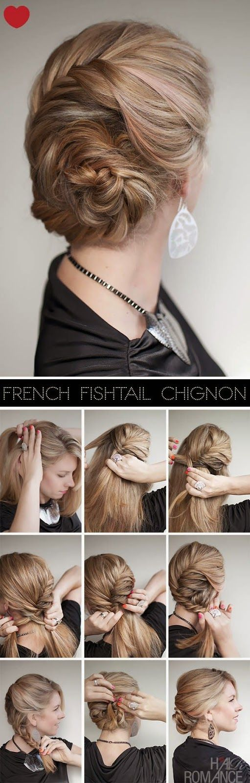 too cute.. definitely makes me wish I could do a proper fishtail braid...