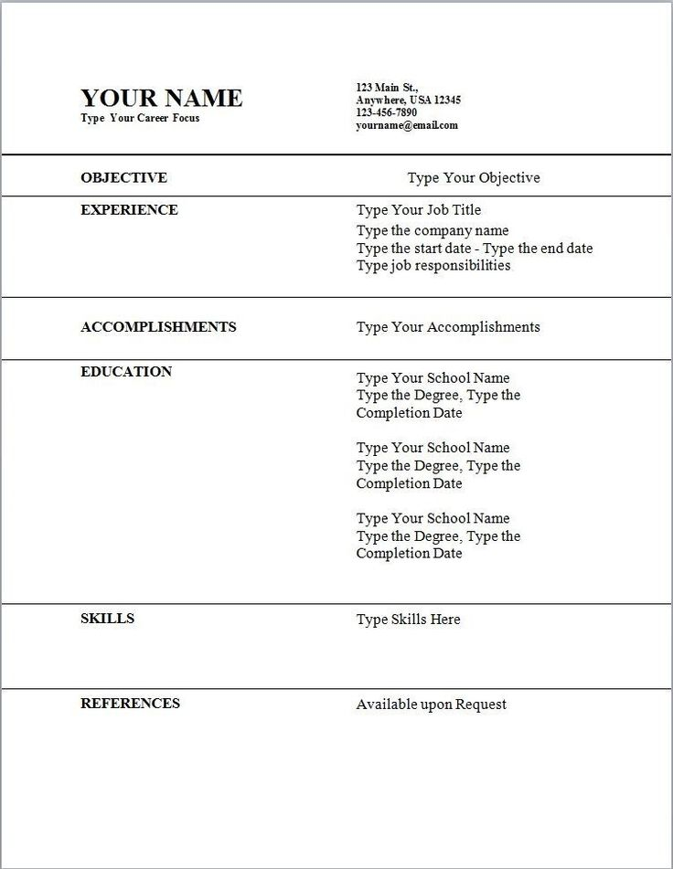 The 25 best ideas about Acting Resume Template – Template for a Resume