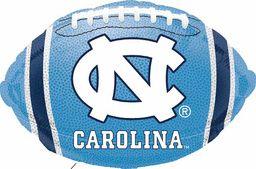 """18"""" University of N Carolina Football -Non-Pkg foil balloon (Pack of 5)"""