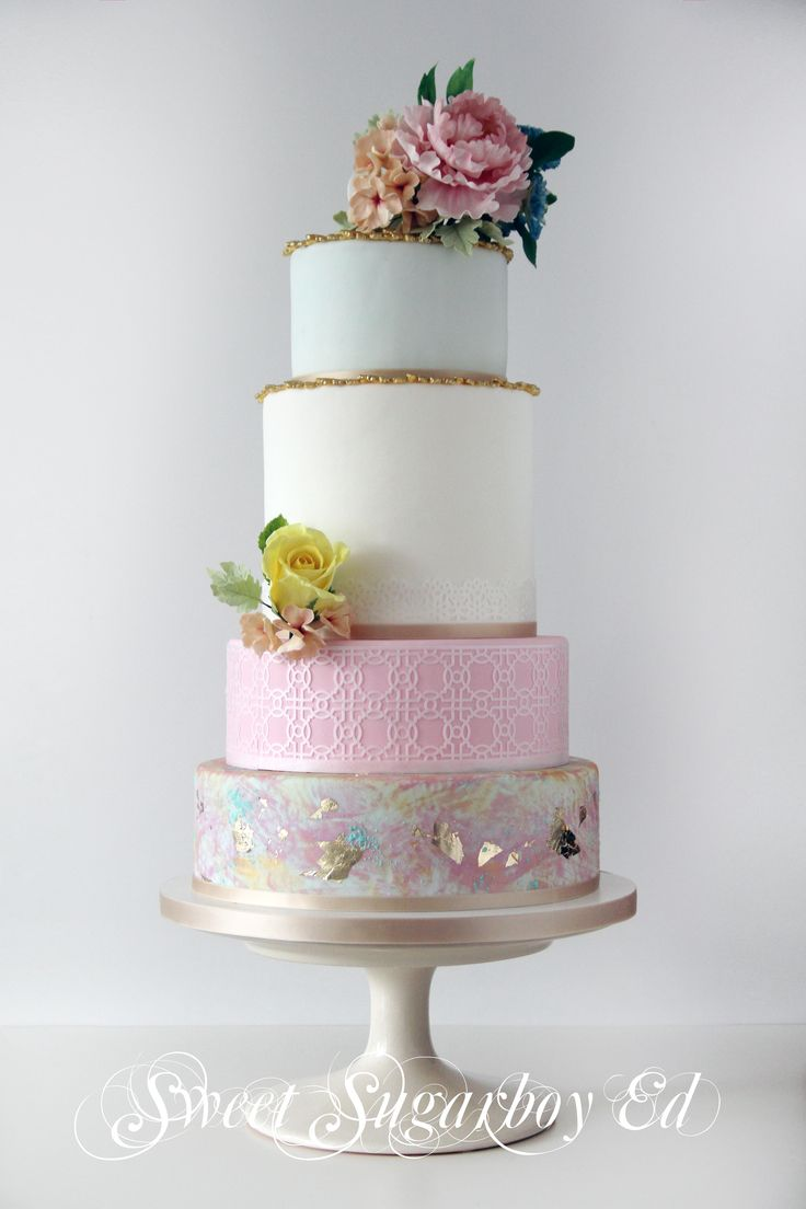 Signs of Spring Wedding Cake 19 August 2014