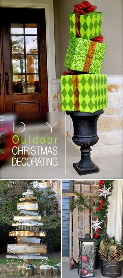 Outdoor Decorating For Christmas best 25+ diy outdoor christmas decorations ideas on pinterest