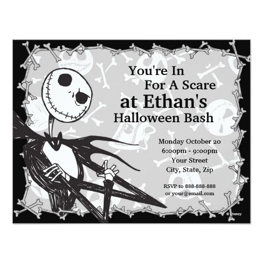 301 best halloween party images on pinterest halloween parties nightmare before christmas halloween party card stopboris Choice Image