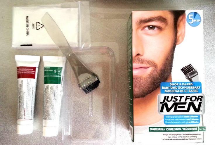 Wenkbrauwen en grijze haren verven? Just For Men snor en baard werkt prima!