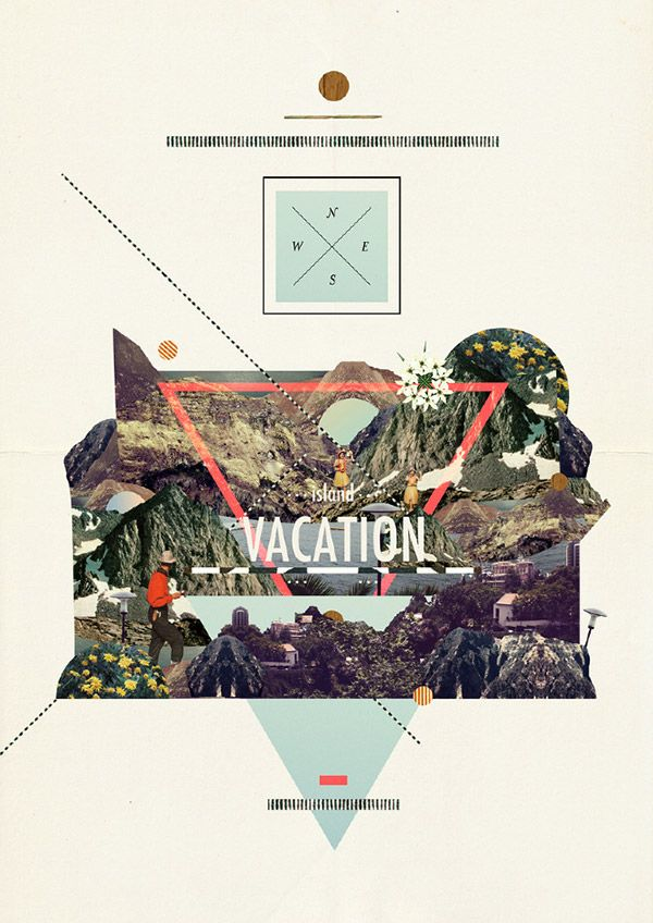 what i need: Art Illustrations Collage, Dawn Gardner, Layout, Graphics Design, Photo G Design, Design Posters Calliographi, Colour Palettes, Islands Vacations, Photo Collages