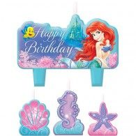 Mini Moulded Birthday Candles Set Pkt4 $13.95 A175074