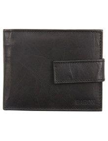 Baron Alex Cowhide Wallet, Black product photo