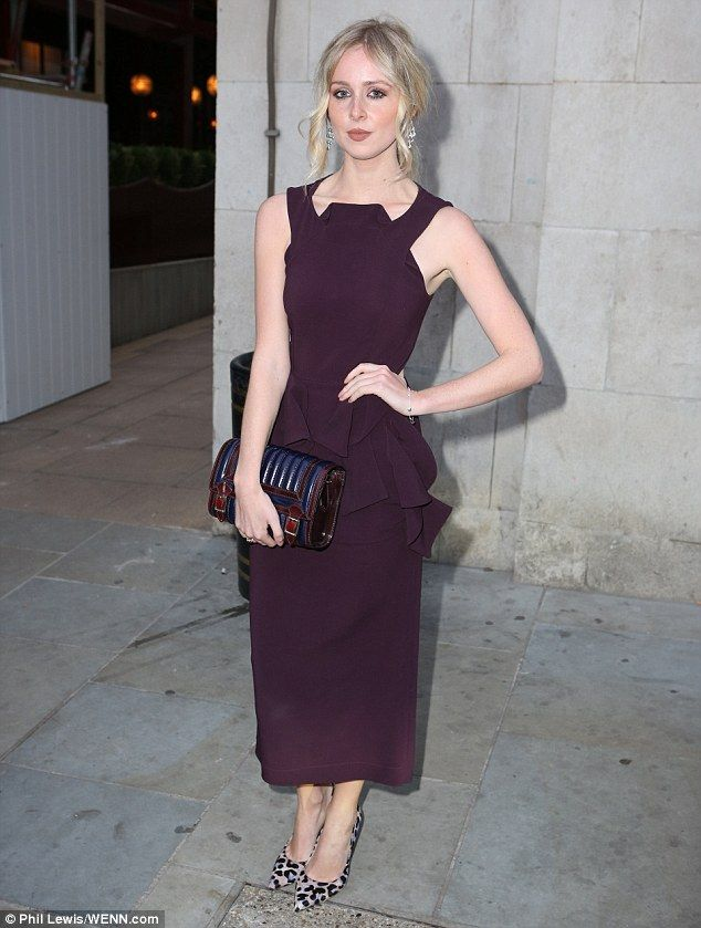 Blonde beauty:Diana Vickers also attended, and looked incredibly classy in a plum-coloure...