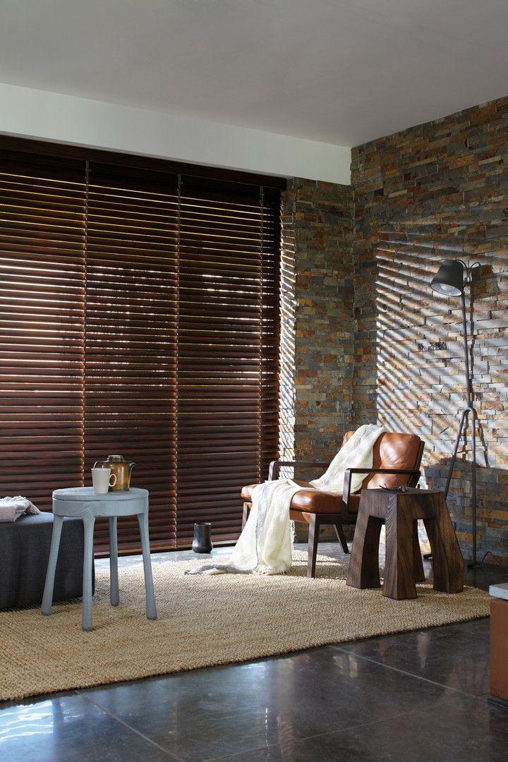 Luxaflex® Houten Jaloezieën - hout, bruin