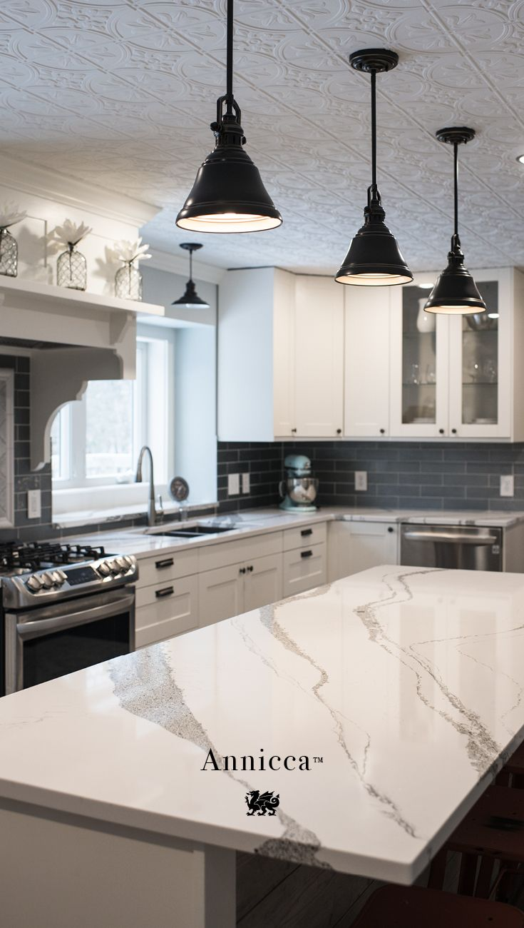 Love The Ceiling And The Marble Kitchen Renovation Kitchen Design Home Kitchens