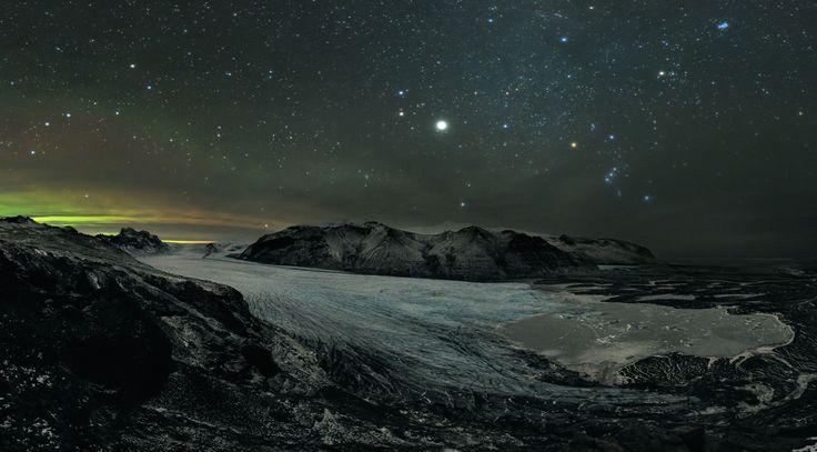 Cielo estrellado en Skaftafell