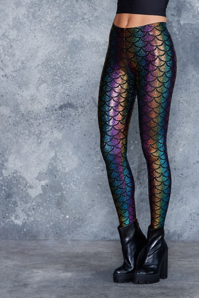 Mermaid Candy Leggings ($80AUD) by BlackMilk Clothing