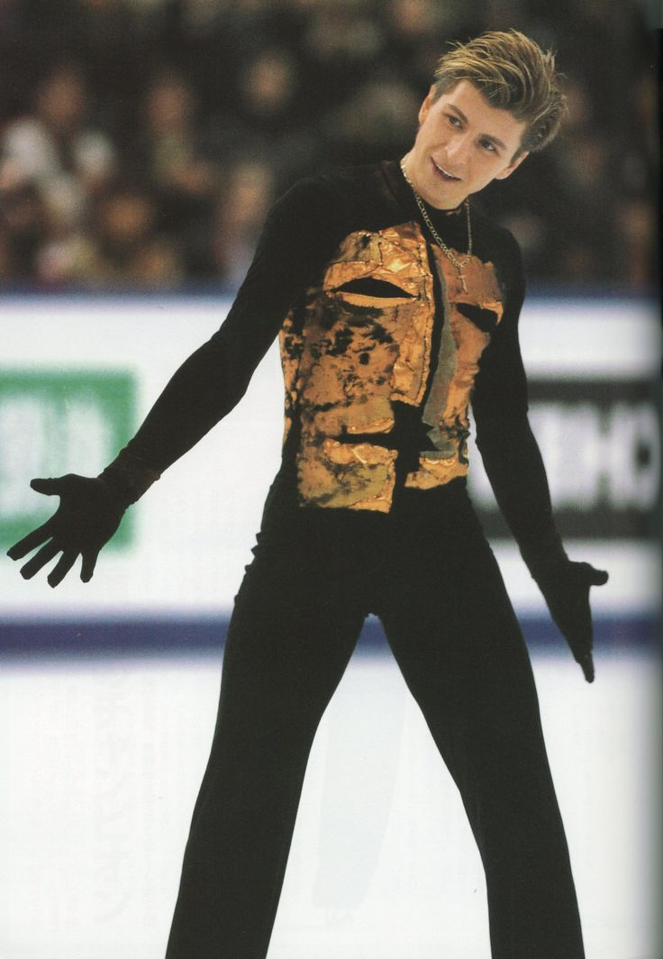 Alexei Yagudin (Russia) competing in the Free Skate of the 2002 Olympics in Salt Lake City, Utah.