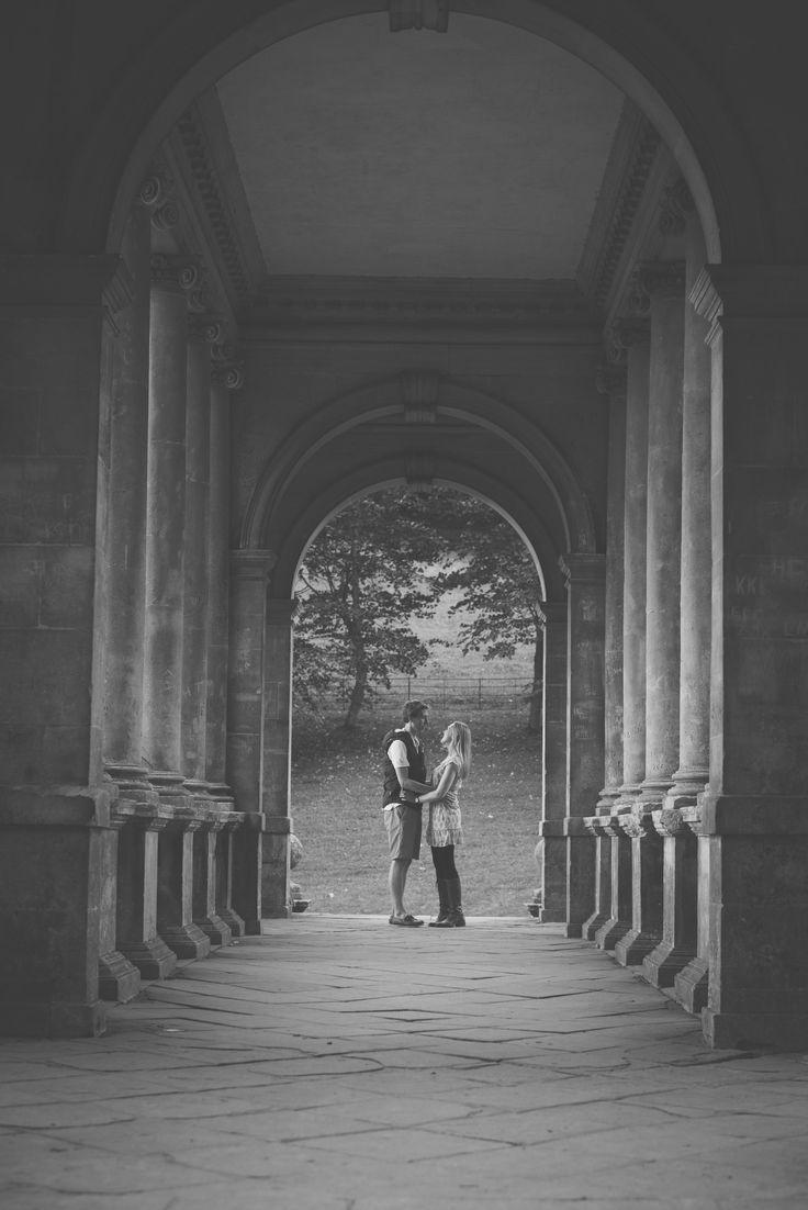 Engagement at Prior Park in Bath - Bex & Adam // Black and white photography // Matt Fox Photography - blog